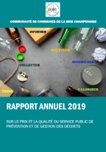 Rapport annuel 2019 sur le prix et la qualité du service des déchets de la CCBC